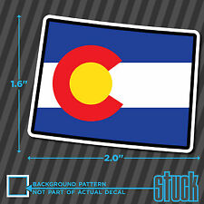 """Colorado State Flag Small - 2""""- printed vinyl decal sticker hard hat helmet CO"""