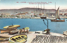CANNES 1567 le port filets de pêche