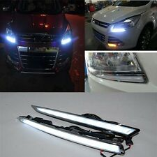 2x DRL Driving Daytime Running Day Fog Lamp Light For Ford Kuga/Escape 2013 2014