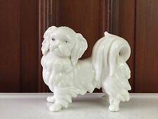 Vintage ARDALT Lenwile PEKINGESE DOG Figurine China VERITHIN Bisque PORCELAIN
