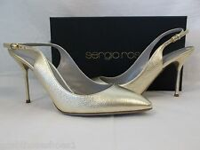 Sergio Rossi Size EU 41 US 11 M Vitello Ginger Leather New Womens Shoes