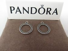 New w/Box Pandora Eternity Black Crystal Compose  Earrings 290664 RETIRED