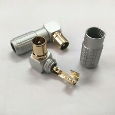 High-quality FM Atenna Male to Female PAL TV RF Coxial Connector Adapter Plug
