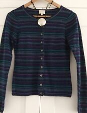 Lovely Striped Ladies cardigan by East size small Fab Condition