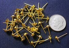 40 Pc dangle post earring findings gold plated closed loop - No clutches  fpe115