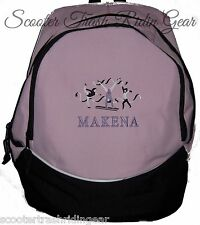 Gymnastics PINK School Backpack Book Bag PERSONALIZED monogrammed NEW