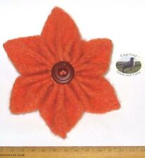 13cm Corsage Brooch Orange star flower 100% Wool felt hippy boho Mother's Day