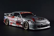 USED TAMIYA 1/10 RC TA03-R 2WD DRIFT Ver CHASSIS D1GP NISSAN SILVIA S15 SILVER