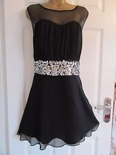 "NEW.W.O.T CHIFFON/SEQUINS OCCASION DRESS BY COLEEN X UK-20 BUST 44"" LENGTH 36"""