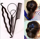 New Fashion 4pcs Women Girls Hair Styling Clip Stick Bun Maker Braid Tool