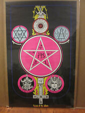 Vintage 1972 Season of the Witch original zodiac occult astrology poster  8892