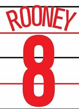 Rooney 8 Manchester United 2004-2005 3rd champions league Football Nameset