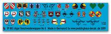 1/32 Decals für Flugzeuge Zahlen in 3 Farben  833