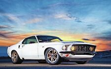 "Ford Mustang Muscle Car Poster 19""x 13"""