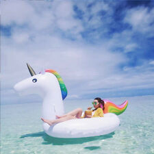 "78"" Inflatable Unicorn Water Floats Swiming Pool Beach Water Sports Ride On Toys"