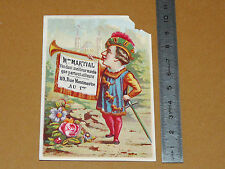 CHROMO 1898-1905 PARFUMERIE MARTIAL RUE MONTMARTRE PARIS DENTIFRICE AU CRESSON