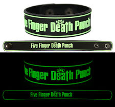 FIVE FINGER DEATH PUNCH Rubber Bracelet Wristband Glows in the Dark