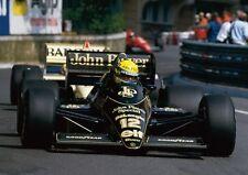 Ayrton Sena JPS Lotus Mónaco F1 AFICHE