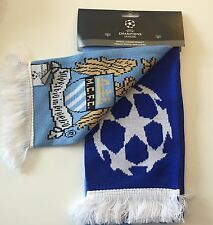 MANCHESTER CITY V REAL MADRID CHAMPIONS LEAGUE SCARF ** OFFICIAL **