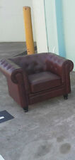 Chesterfield Armchair in Antique Burgundy