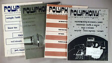 Polyphony Magazine - LOT of 4 diff. from 1978-1979 ~~ electronic musician