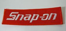 """SNAP-ON Tools Iron On Embroidered Uniform-Jacket Patch 4"""" x 1.25"""""""