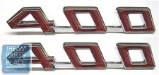 1967-69 Pontiac Firebird 400 Hood Emblems - Pair