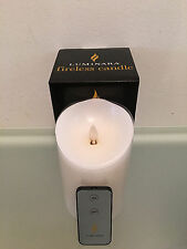 "NEW Model, Luminara Flameless Candle 4"" x 9""   Unscented White, 1 Remote"