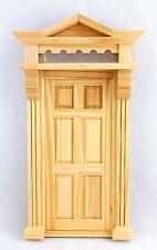 CASA delle bambole vittoriana frontale 6 pannello porta d'ingresso con luce dall'alto in legno 1:12
