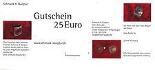 Schmuck Gutschein, Geschenk für Kurzentschlossene   - Wert 25 Euro -
