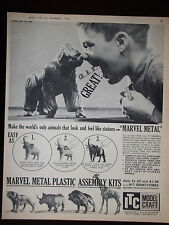 1961 ITC Marvel Metal Animal Plastic Assembly Kits Advertisement