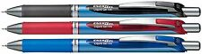 3 X  Pentel EnerGel  Retractable Gel Roller Ball Pen 0.5mm BLN75 BLACK RED BLUE