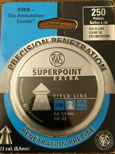 RWS .22 Umarex Superpoint Extra Pellets Tin 250 Count Model # 231-7384 New