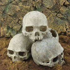 Skoopy Resin Skull Head Aquarium Cave Ornament Fish Tank Reptile Decoration