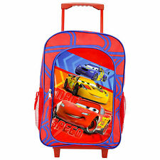 CHILDRENS LARGE PREMIUM DISNEY CARS TROLLEY BAG SUITCASE NEW