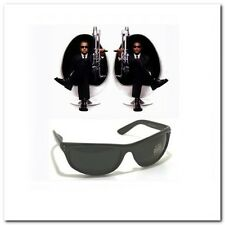 MIB Men In Black Frame Celebrity Movie Wrap Sunglasses Dark Smoke Lenses 1012