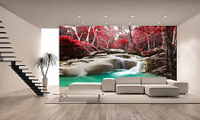 Deep Forest Waterfall  Wall Mural Photo Wallpaper GIANT WALL DECAL PAPER POSTER