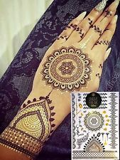Gold Henna-Luxury Gold Metallic Flash Bindi Temporary Tattoos By Unique Freak