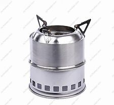 Light Weight Wood Gas Backpacking portable Survival Wood Burning Camping Stove