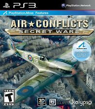 AIR CONFLICTS SECRET WARS PS3! MOVE COMPATIBLE! WWII, WWI, WAR, BATTLE WARFARE