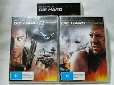 "DIE HARD 1 / 2 AND WITH A VENGEANCE, 3  DVD'S PACK  ""preowned"", AUZ SELLER"