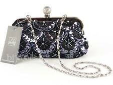 New LADIES VINTAGE Womens SEQUIN EVENING BAG by LEKO of London Shoulder Chain
