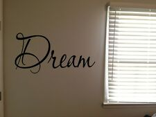 Dream Inspirational Word Fancy Pretty Home Vinyl Wall Decal Quote Sticker
