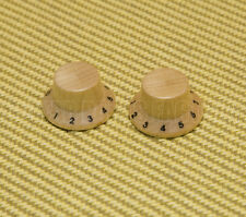 PK-KM102N (2) Maple Wood Numbered 1-10 Bell Knobs for Guitar/Bass