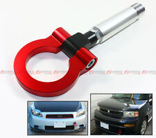RED JDM BILLET FOLDING RING SCREW ON BUMPER TOW HOOK FOR SCION XB tC XA XD IQ