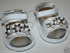 Koala Baby Infant Girls White Sandals with Flower Shoes Size 1 NWT