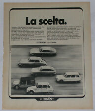 Advert Pubblicità 1972 CITROEN DS / SM / GS / MEHARI / DYANE / AMI 8 BREAK