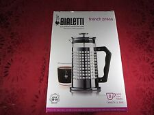 Bialetti 8-Cup French Press Coffee Maker, Premium Glass/Stainless Steel, Silver
