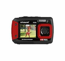 Cámara Digital Polaroid IE090 bajo el agua Impermeabl Doble Pantalla 18MP Tough-Rojo