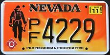 "NEVADA "" FIREFIGHTER - FIRE FIGHTER "" 2007 NV Graphic License Plate"